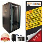 TOWEREZ ® FLAT PACK 22U Server Cabinet 600 (W) x 600 (D) x1200 (H) Glass Front Door