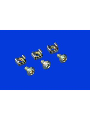 6 Angle Mounting Screws and Cage Nuts for Server Racks(20 Pack)
