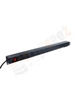 Vertical 12 Way Rack Mount Power Distribution Unit 1.8m - UK PDU